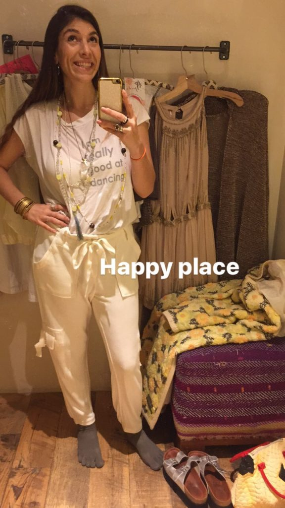 Good hYOUman top and Free People Joggers